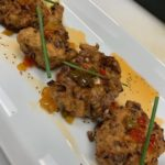 Okra Fritters with Housemade Pepper Jelly